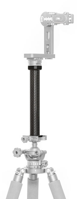 pocketPANO Extension Rod Verlängerung aus Carbon zur Erhöhung des Abstandes zwischen Kamera und Stativ oder Stativkopf
