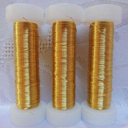Golddraht gold, Golddraht echt vergoldet, Golddraht in verschiedenen Stärken, Golddraht zur Herstellung von Schmuck, Golddraht zur Herstellung von Klosterarbeiten,