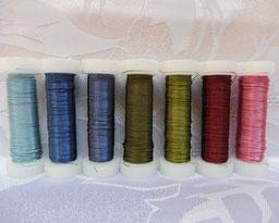 Cordonett farbig, Cordonett für Herstellung von Klosterarbeiten, Cordonett farbig zur Schmuckherstellung,