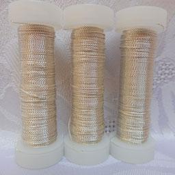 Cordonettdraht silber, Cordonettdraht, Cordonettdraht  echt versilbert, Cordonettdraht zur Herstellung von Blütenhaarnadeln, Cordonett Herstellung von Schmuck,