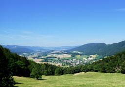 Blick von La Chévre ins Val Terbi