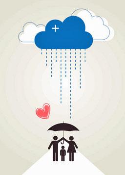 雨の日もいいよね、愛愛傘できるもん♪