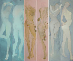 冷色关系 CLOSER 1-6 200X240CM 布面油画  OIL ON CANVAS 2008