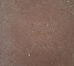 Unterlagsboden rot eingefärbt und dann aufs Korn geschliffen als Decorboden