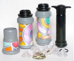 Modello Base Completo del SOTTOVUOTOMANUALE per conservare in barattoli e bottiglie di vetro e bottiglie di plastica alimenti freschi, secchi ed anche liquidi