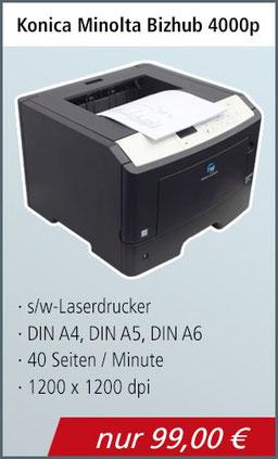 Laserdrucker schwarz-weiß A4 Toner fast leer, duplex und usb Funktion