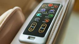 Massagesessel Easyrelaxx in beige mit USB-Anschluss