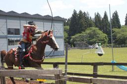 岩手 乗馬 しずくいしYU-YUファーム(貸衣装付体験流鏑馬)