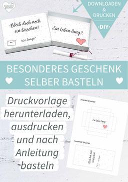 Valentinstag, Heiratsantrag, Liebe, DIY-Geschenk, liebe Worte, grußbox, Grüße in der Box, Matchbox, Streichholzschachtel, Idee Valentinstag