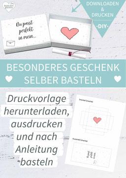Valentinstag, Liebe, DIY-Geschenk, liebe Worte, grußbox, Grüße in der Box, Matchbox, Streichholzschachtel, Idee Valentinstag