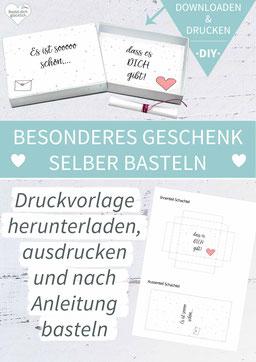 Valentinstag, Liebe, Heiratsantrag, Freundschaft, DIY-Geschenk, liebe Worte, grußbox, Grüße in der Box, Matchbox, Streichholzschachtel, Idee Valentinstag