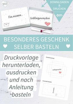 Valentinstag, Freundschaft, Heiratsantrag, Liebe, DIY-Geschenk, liebe Worte, grußbox, Grüße in der Box, Matchbox, Streichholzschachtel, Idee Valentinstag