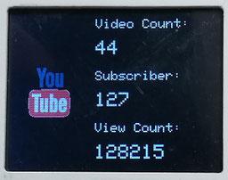 ESP32 ESP8266 Nodemcu touch ILI9341 social media counter tracker