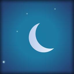 Der Mond ist aufgegangen, Halbmond