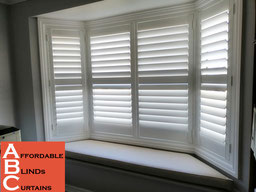 Plantation Shutters in Bay Window