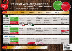 Musik Programm Wiener Wiesn Fest 2016 - Aktion Karten Eintritt günstiges Hotel Urania Wien Nähe Prater Messe Wien