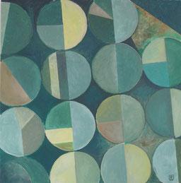 Terrazyklus / Felder1,  80x80 cm, 2011,  Akryl auf Leinwand