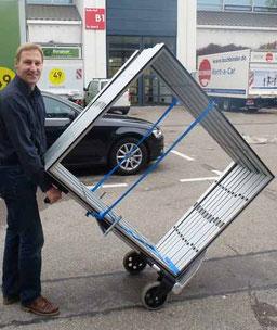 Hochwertige Trolley als Transporthilfe und für Ihr mobiles AusstellungsSystem