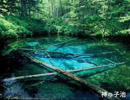 下りきった先には美しい神の子池