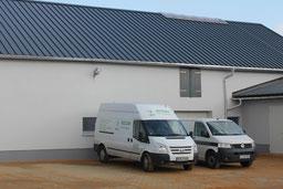 Umnutzung leer stehender Gebäude für eine gwerbliche Nutzung - Firma Recom Werdau OT Steinpleis