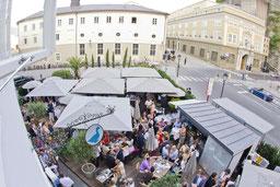 Restaurantgarten Blaue Gans Salzburg