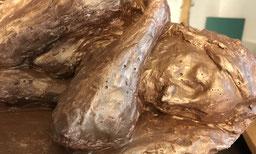 Kunsttherapie skulptur gold malatelier