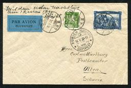 15.5.1939 Oslo, erster Reichspost-Nachtflug via Kopenhagen-Hannover-Berlin und mit DLH/AD ASTRA bis Zürich.