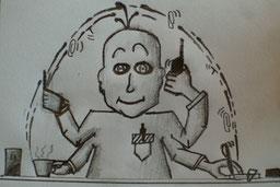 Bild zu Multitasking am Arbeitsplatz