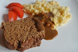 Low Carb & vegetarisch: Hackbraten (auch für Thermomix)
