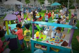 jeu pour enfant, jeu symbolique, guinguette, jeu de rôle et d'imitation