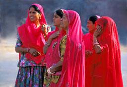 Des femmes indiennes que l;on peut rencontrer au cours d'un voyage en Inde.