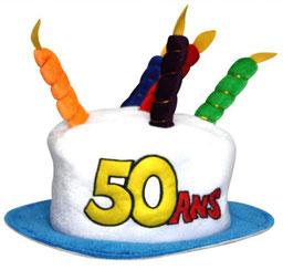 Chapeaux anniversaire