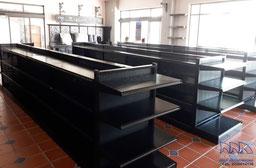 Góndolas metálicas, estantes metálicos