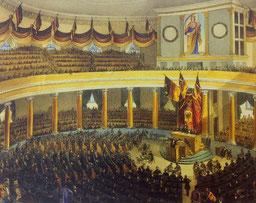 Das Paulskirchenparlament (auch Burschenschafter-Parlament genannt)