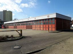 Archivfoto: Von der urpsprünglichen Fahrzeughalle ist nicht mehr viel zu sehen.