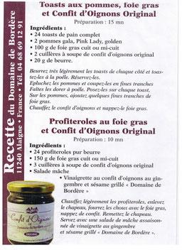 recette Domaine de Bordère - oignons - Alainge