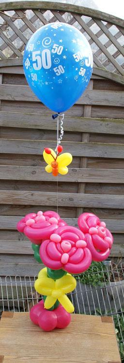 Mr.balloni ch,Ballonblumen groß, Geburtstag, Hochzeit, Dekoration, Ballondeko