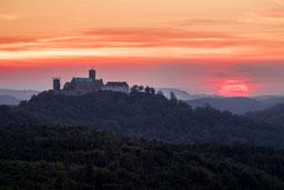 Wartburg Eisenach Sonnenuntergang Sunset Thüringen