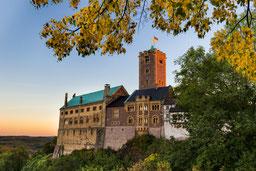Wartburg Eisenach Luther Thüringen Herbst Sonnenuntergang