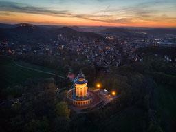 Burschenschaftsdenkmal Stadt Eisenach Sonnenuntergang Sunset Thüringen Wartburg
