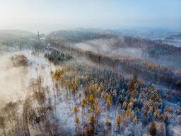 Thüringer Wald Eisenach Nebel Winter Schnee