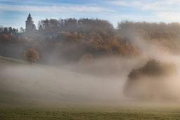 Burschenschaftsdenkmal Eisenach  Nebel Herbst