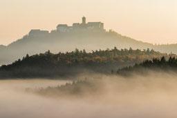 Wartburg Herbst Nebel Eisenach Sonnenaufgang Sunrise