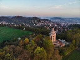 Burschenschaftsdenkmal Eisenach Stadt Herbst Drohne Frühling
