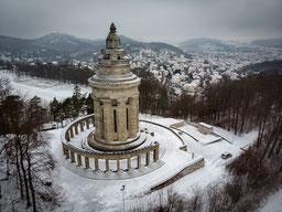 Burschenschaftsdenkmal Eisenach  Stadt Winter Schnee