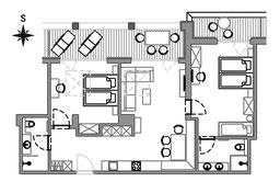 Appartement Curuna - Grundriss
