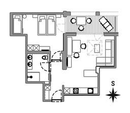 Appartement Vigna - Grundriss