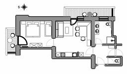 Apartement Flura - floor plan