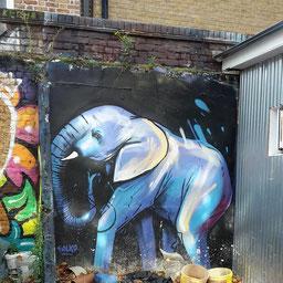 Afrikanischer Elefant, Falko, Shoreditch Street Art Tour