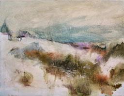 Paesaggio innevato, olio su tela cm 80 x 100